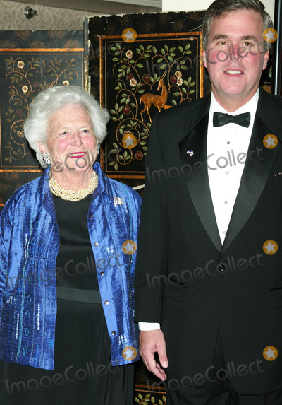 Jeb Bush Photo - Barbara Bush with son Governor Jeb Bush attending CASAS Eleventh Anniversary Awards Dinner Honors American Leadership in Combating Substance Abuse Waldorf Astoria Hotel NYCApril 2 2003Credit McBrideface to face