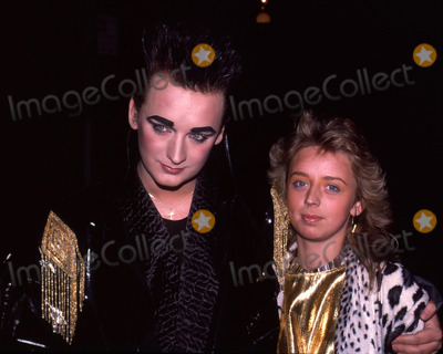 Boy George Photo - Boy George with his sister Shebahan Attending Birthday party in his honor at Friends apartment on the Upper West Side in New York CityJune 14 1985Credit McBrideface to face