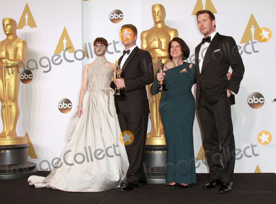 Adam Stockhausen Photo - 22 February 2015 - Hollywood California -L-R) Actress Felicity Jones Adam Stockhausen Anna Pinnock winners of the Best Production Design Award for The Grand Budapest Hotel and presenter Chris Pratt pose in the press room during the 87th Annual Academy Awards presented by the Academy of Motion Picture Arts and Sciences held at the Dolby Theatre Photo Credit Theresa BoucheAdMedia