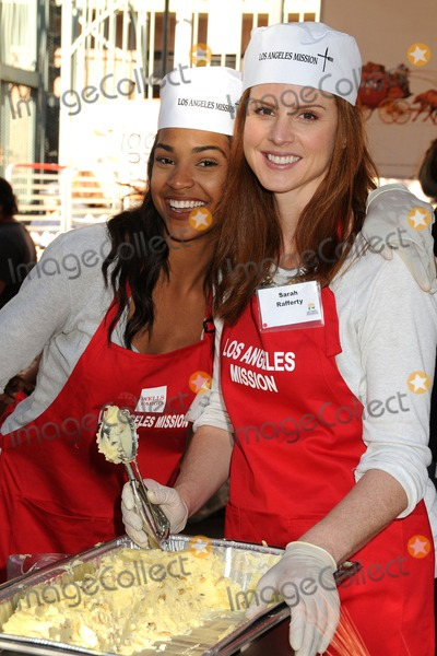 Aeriel Miranda Photo - 27 November 2013 - Los Angeles California - Aeriel Miranda Sarah Rafferty Los Angeles Mission Thanksgiving Dinner 2013 held at The Los Angeles Mission Photo Credit Byron PurvisAdMedia