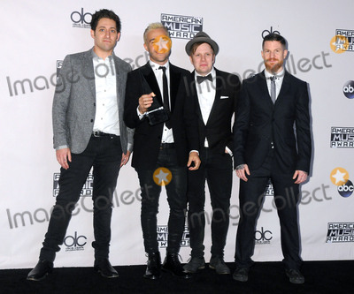 Andy Hurley Photo - 22 November 2015 - Los Angeles California - Joe Trohman Pete Wentz Patrick Stump Andy Hurley Fall Out Boy 2015 American Music Awards - Press Room held at Microsoft Theater Photo Credit Byron PurvisAdMedia