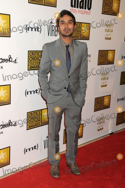 Kunal Nayyar Photo - 10 June 2013 - Beverly Hills California - Kunal Nayyar 3rd Annual Critics Choice Television Awards held at The Beverly Hilton Hotel Photo Credit Byron PurvisAdMedia