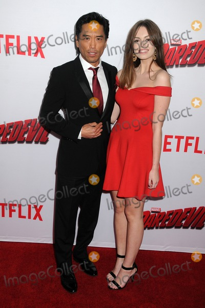 Peter Shinkoda Photo - 2 April 2015 - Los Angeles California - Peter Shinkoda Veronica Jarvi Marvels Daredevil Los Angeles Season Premiere held at Regal Cinemas LA Live Photo Credit Byron PurvisAdMedia