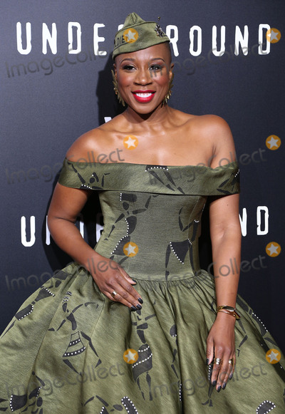 Aisha Hinds Photo - 28 February 2017 - Westwood California - Aisha Hinds WGN Americas Underground Season 2 Premiereheld at Westwood Village Photo Credit AdMedia