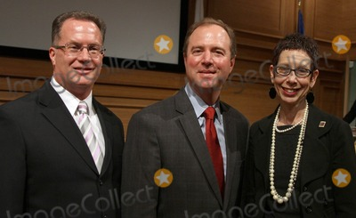 Adam Schiff Photo - 16 April 2012 - West Hollywood California - Mayor Jeffrey Prank Congressman Adam Schiff Mayor pro term Abbe Land Jeff Prang and Abbe Land West Hollywood New mayor  Mayor pro term Sworn in Ceremony during council meeting Held at WEHO Council chambers Photo Credit Faye SadouAdMedia
