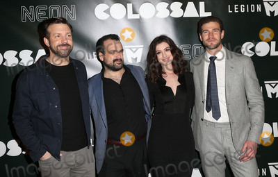 Ann Hathaway Photo - 04 April 2017 - Los Angeles California - Jason Sudeikis Nacho Vigalondo Anne Hathaway Austin Stowell Colossal - Los Angeles Premiere held at Vista Theatre Photo Credit AdMedia