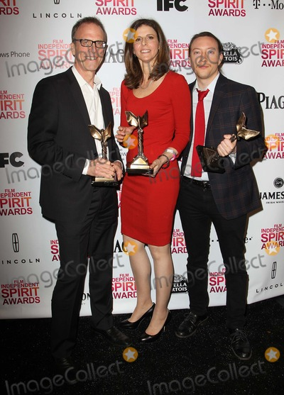 Amy Ziering Photo - 23 February 2013 - Santa Monica California - Kirby Dick Amy Ziering Tanner King Barklow 2013 Film Independent Spirit Awards - Press Room  Held At Santa Monica Beach Photo Credit Faye SadouAdMedia