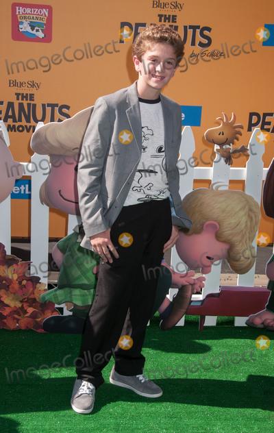 AJ Tecce Photo - 1 November 2015 - Westwood California - AJ Tecce The Peanuts Movie Los Angeles Premiere held at the Regency Village Theatre Photo Credit Byron PurvisAdMedia