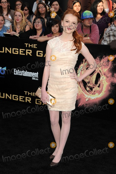Annie Thurman Photo - 12 March 2012 - Los Angeles California - Annie Thurman The Hunger Games Los Angeles Premiere held at Nokia Theatre LA Live Photo Credit Byron PurvisAdMedia