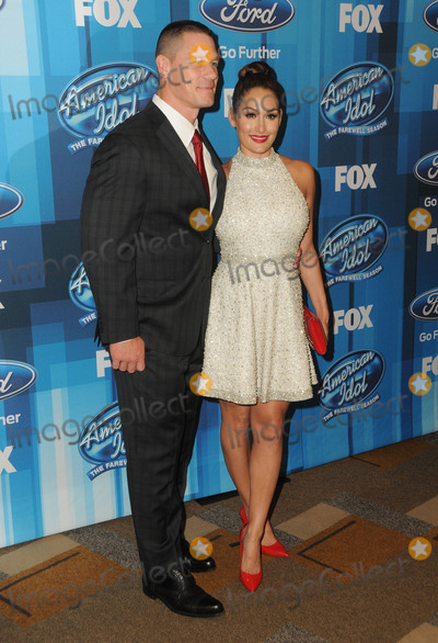 Nikki Bella Photo - 07 April 2016 - Hollywood California - John Cena Nikki Bella Arrivals for FOXs American Idol Finale For The Farewell Season held at The Dolby Theater Photo Credit Birdie ThompsonAdMedia