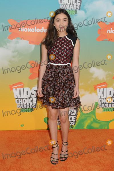 Rowan Blanchard Photo - 12 March 2016 - Inglewood California - Rowan Blanchard 2016 Nickelodeon Kids Choice Awards held at The Forum Photo Credit Byron PurvisAdMedia