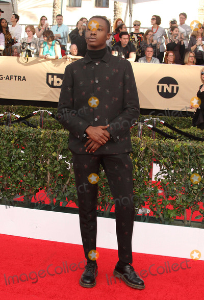 Ashton Sanders Photo - 29 January 2017 - Los Angeles California - Ashton Sanders 23rd Annual Screen Actors Guild Awards held at The Shrine Expo Hall Photo Credit AdMedia
