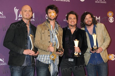 Chris Thompson Photo - 1 April 2012 - Las Vegas Nevada - Jon Jones Chris Thompson Mike Eli James Young Eli Young Band 47th Annual Academy of Country Music Awards - Press Room held at the MGM Grand Photo Credit Byron PurvisAdMedia