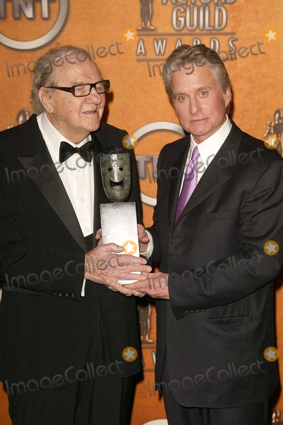 Karl Malden Photo - Karl Malden and Michael Douglas At the 10th Annual Screen Actors Guild Awards - Press Room in the Shrine Auditorium Los Angeles CA 02-22-04