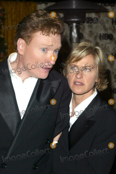 Ellen Degeneres Photo - Conan OBrien and Ellen Degeneres at the HBO Post-Emmy party Spago Beverly Hills CA 09-22-02