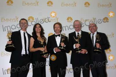 Bertram van Munster Photo - Phil Keoghan Elise Doganieri Jerry Bruckheimer Bertram van Munster Jonathan Littman66th Annual Emmy Awards Press Room Nokia Theater Los Angeles CA 08-25-14David EdwardsDailyCelebcom
