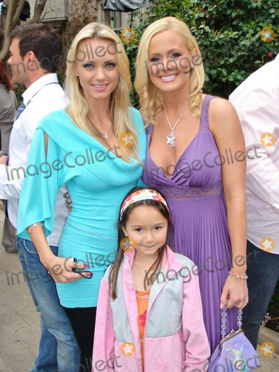Lynn Herring Photo - Cassandra Lynn and her daughter with Katie Lohmannat the Playboy Mansion Easter Egg Hunt Playboy Mansion Los Angeles CA 04-07-07