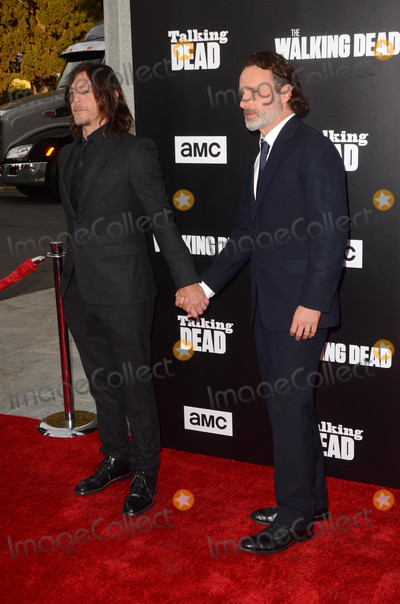 Andrew Lincoln Photo - Norman Reedus Andrew Lincolnat AMCs Special Edition of Talking Dead Hollywood Forever Cemetery Los Angeles CA 10-23-16