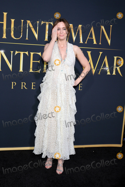 Emily Blunt Photo - LOS ANGELES - APR 11  Emily Blunt at the The Huntsman Winters War American Premiere at the Village Theater on April 11 2016 in Westwood CA
