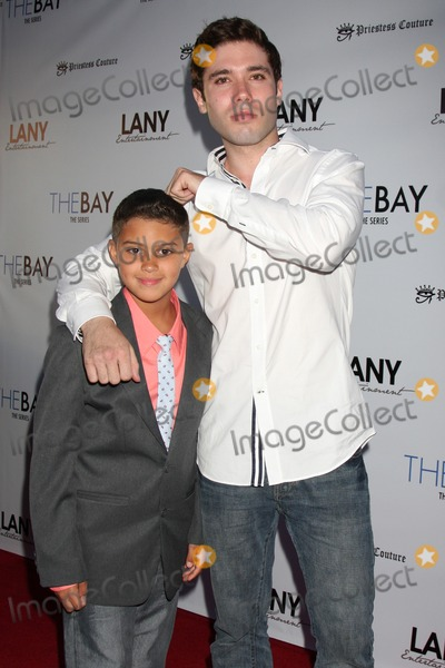 Aidan Moreno Photo - LOS ANGELES - AUG 4  Aidan Moreno Kristos Andrews at the The Bay Red Carpet Extravaganza at the Open Air Kitchen  Bar on August 4 2014 in West Hollywood CA