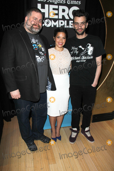 AMERICA FERRARA Photo - LOS ANGELES - MAY 31  Dean DeBlois America Ferrara Jay Baruchel at the  How To Train Your Dragon 2 Advaced Screening Hero Complex Film Festival at TCL Chinese 6 on May 31 2014 in Los Angeles CA