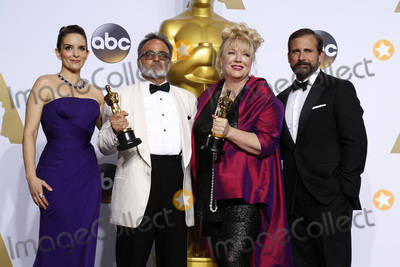 Steve Carell Photo - LOS ANGELES - FEB 28  Tina Fey Colin Gibosn Lisa Thompson Steve Carell at the 88th Annual Academy Awards - Press Room at the Dolby Theater on February 28 2016 in Los Angeles CA
