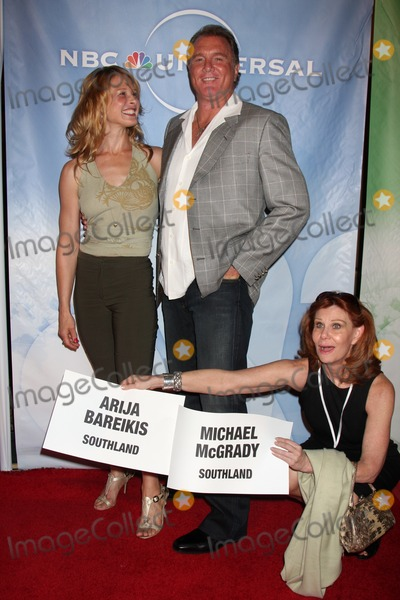 Arija Bareikis Photo - Arija Bareikis  Michael McGrady arriving at the NBC TCA Party at The Langham Huntington Hotel  Spa in Pasadena CA  on August 5 2009