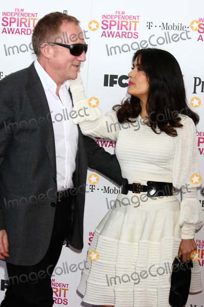 Salma Hayek Photo - LOS ANGELES - FEB 23  Francois-Henri Pinault Salma Hayek attends the 2013 Film Independent Spirit Awards at the Tent on the Beach on February 23 2013 in Santa Monica CA