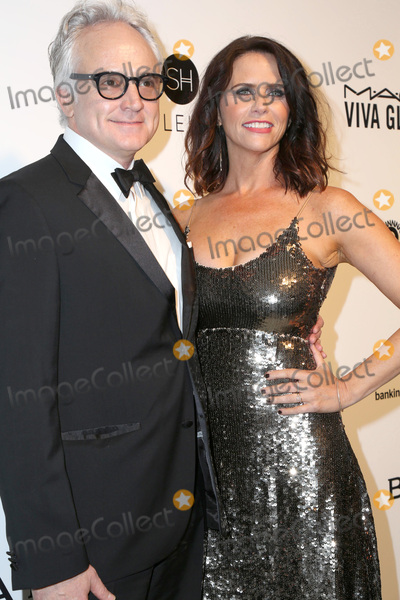 Amy Landecker Photo - LOS ANGELES - FEB 26  Bradley Whitford Amy Landecker at the Elton John Oscar Viewing Party 2017 at the City of West Hollywood Park on February 26 2017 in West Hollywood CA