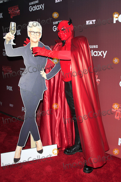 Jamie Lee Curtis Photo - LOS ANGELES - SEP 21  Jamie Lee Curtis standee Red Devil at the Premiere of FOX TVs Scream Queens at the Wilshire Ebell Theater on September 21 2015 in Los Angeles CA