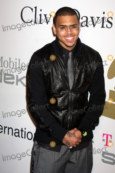 Chris Brown Photo - Chris Brown  arriving at the Pre-Grammy Party honoring Clive Davis at the Beverly Hilton Hotel in Beverly Hills CA on February 7 2009