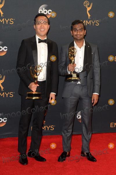Alan Yang Photo - LOS ANGELES - SEP 18  Alan Yang Aziz Ansari at the 2016 Primetime Emmy Awards - Press Room at the Microsoft Theater on September 18 2016 in Los Angeles CA