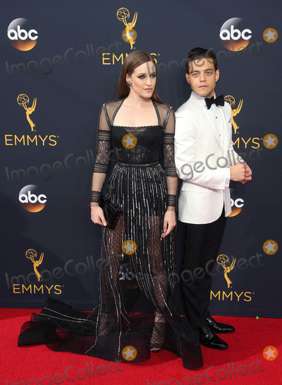 Carly Chaikin Photo - Photo by REWestcomstarmaxinccomSTAR MAX2016ALL RIGHTS RESERVEDTelephoneFax (212) 995-119691816Carly Chaikin and Rami Malek at The 68th Emmy Awards in Los Angeles CA