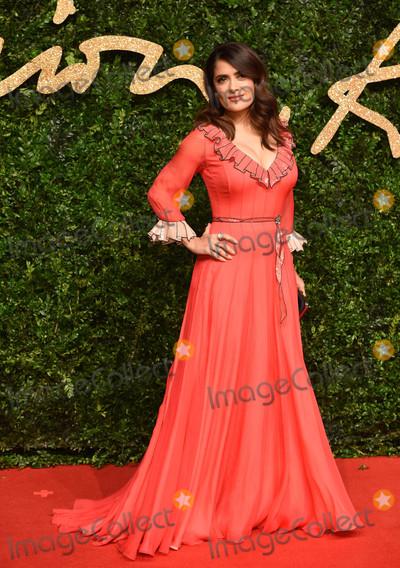 Salma Hayek Photo - Photo by KGC-03starmaxinccomSTAR MAXCopyright 2015ALL RIGHTS RESERVEDTelephoneFax (212) 995-1196112315Salma Hayek at the 2015 British Fashion Awards(London England UK)