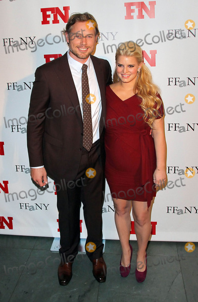 Jessica Simpson Photo - Non-Exclusive2011 Nov 29 - Jessica Simpson shows off her growing baby bump at the Footwear News Achievement Awards on Tuesday (November 29) at The Museum of Modern Art in NYC with Eric Johnson Photo Credit Jackson Leestarmaxinccom
