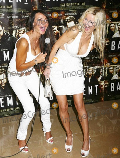 Alicia Douvall Photo - Alicia Douvall and Lizzie Cundy (L) joke around after arriving at The Mayfair Hotel for the UK premiere of the horror film Basement written by Irish writer Ewen Glass London UK 081710