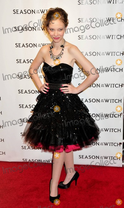 Kennedy Photo - Rebekah Kennedy poses for photographers on the red carpet at the premiere of Season of the Witch held at AMC Loews Lincoln Square 13 theater New York NY 010411