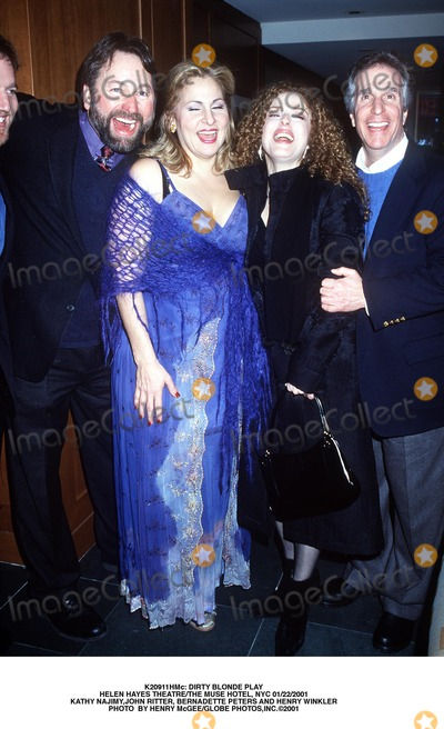 Kathy Najimy Photo -  Dirty Blonde Play Helen Hayes Theatrethe Muse Hotel NYC 01222001 Kathy Najimyjohn Ritter Bernadette Peters and Henry Winkler Photo by Henry McgeeGlobe Photosinc