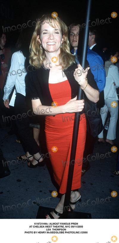 Lea Thompson Photo -  Almost Famous Prem at Chelsea West Theatre NYC 09112000 Lea Thompson Photo by Henry McgeeGlobe Photosinc