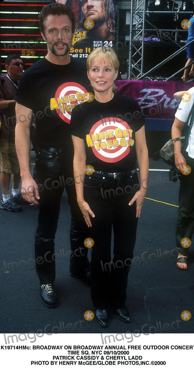 Cheryl Ladd Photo -  Broadway on Broadway Annual Free Outdoor Concert Time Sq NYC 09102000 Patrick Cassidy  Cheryl Ladd Photo by Henry McgeeGlobe Photosinc