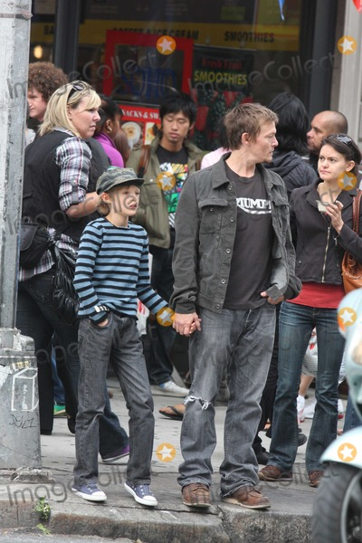 Mingus Reedus  Photo - NYC  092609EXCLUSIVE Norman Reedus and son Mingus Reedus (10 years old Mother is Helena Christensen) stopping for ice cream while shopping in SOHOEXCLUSIVE photo by Adam Nemser-PHOTOlinknet
