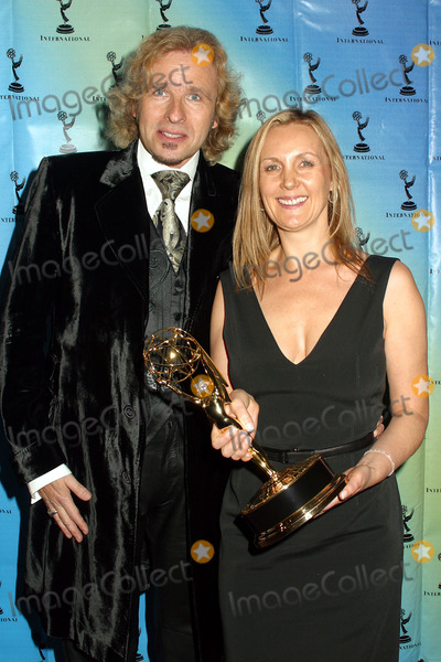 Angie Stephenson Photo - Thomas Gottschalks and Angie Stephenson at the 30th Internationla Emmy Awards in New York  November 25 2002