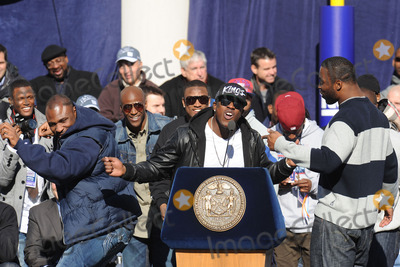 Andre Brown Photo - February 7 2012 New York City  Brandon Jacobs Andre Brown and Justin Tuck attends the Giants Victory Parade for Super Bowl XLVI on February 7 2012 in New York City