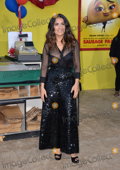 Salma Hayek Photo - LOS ANGELES CA August 9 2016 Actress Salma Hayek at the world premiere of Sausage Party at the Regency Village Theatre WestwoodPicture Paul Smith  Featureflash