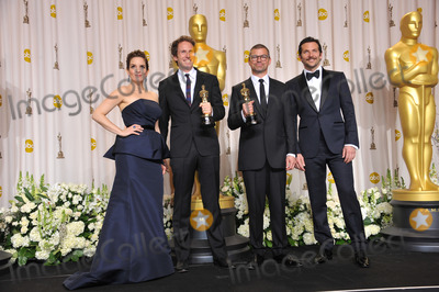 Angus Wall Photo - Kirk Baxter  Angus Wall winner for Best Film Editing for The Girl With The Dragon Tattoo with presenters Tina Fey  Bradley Cooper at the 82nd Academy Awards at the Hollywood  Highland Theatre HollywoodFebruary 26 2012  Los Angeles CAPicture Paul Smith  Featureflash