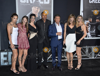 Carl Weathers Photo - Actor Sylvester Stallone  wife Jennifer Flavin  daughters Sistine Rose Stallone Sophia Rose Stallone  Scarlet Rose Stallone with actor Carl Weathers  guest at the Los Angeles World premiere of Creed at the Regency Village Theatre WestwoodNovember 19 2015  Los Angeles CAPicture Paul Smith  Featureflash