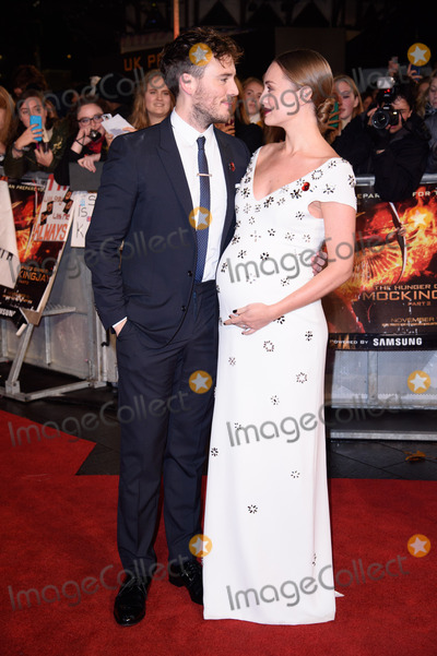 Sam Claflin Photo - Sam Claflin  Laura Haddock at the world premiere of The Hunger Games Mockingjay Part 2 at the Odeon Leicester Square LondonNovember 5 2015  London UKPicture Steve Vas  Featureflash