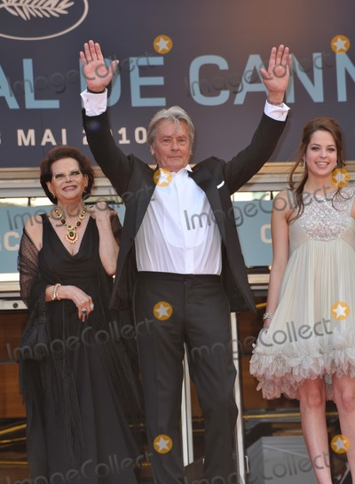 Anouchka Delon Photo - Claudia Cardinale Alain Delon  Anouchka Delon at the premiere screening of Wall Street Money Never Sleeps at the 63rd Festival de CannesMay 14 2010  Cannes FrancePicture Paul Smith  Featureflash