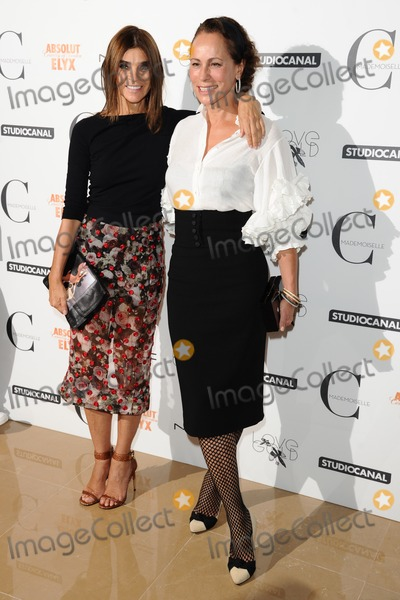 Andrea Dellal Photo - Carine Roitfeld and Andrea Dellal arriving for the Mademoiselle C premiere at the Mayfair Hotel London 15092013 Picture by Steve Vas  Featureflash