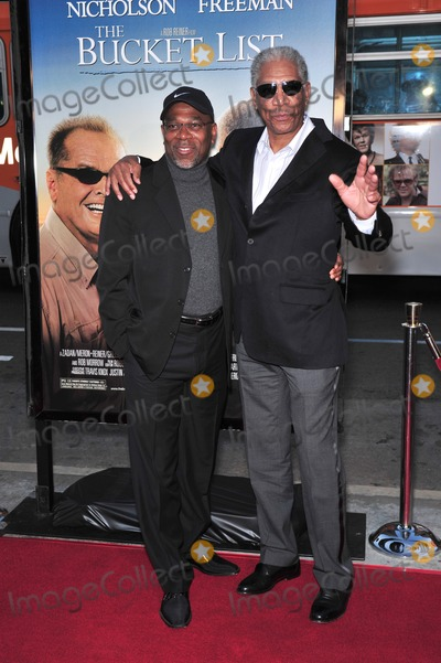 Alfonso Freeman Photo - Morgan Freeman  son Alfonso Freeman at the Los Angeles premiere of his new movie The Bucket List at the Cinerama Dome HollywoodDecember 16 2007  Los Angeles CAPicture Paul Smith  Featureflash